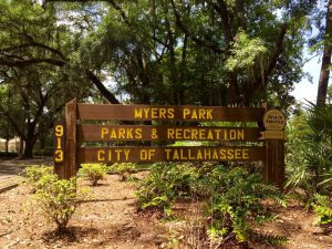 Myers Park Parks and Recreation Sign